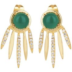 Carousel Jewels - Green Onyx Dreamcatcher Earrings (630 DKK) ❤ liked on Polyvore featuring jewelry, earrings, handcrafted earrings, green onyx jewelry, handcrafted jewellery, handcrafted jewelry and earring jewelry