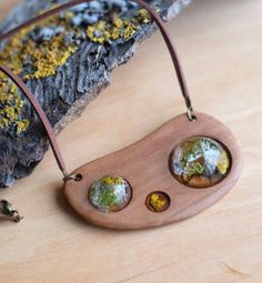 Wooden forest necklace moss lichen terrarium dried flowers rustic eco jewelry pressed flowers herbarium jewelry wooden pendant epoxy resin by sincereworkshop on Etsy