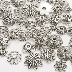 Temperate Wholesale 5pcs European Charm Beads Tibetan Silver Plated Metal Enamel Flower Charms For Jewelry Making Bracelets Fast Shipping Jewelry & Accessories