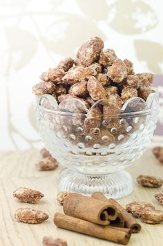 Perfect Christmas gift. Candied almonds with cinnamon and vanilla. So good!