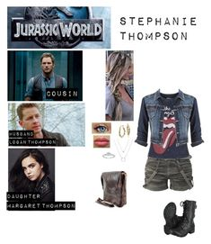 """""""Me in """"Jurassic World"""""""" by c-a-marie2000 ❤ liked on Polyvore featuring Dinosaurs, Topshop, maurices, Blue Nile and Dean"""