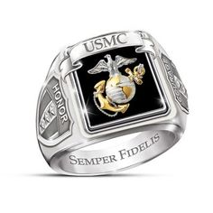 Men's US Marines Stainless Steel Ring Usmc Ring, Marine Corps Rings, Camo Rings, Commitment Rings, Mens Stainless Steel Rings, Wedding Men, Wedding Ring Bands, Marines, Vintage Men