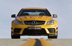 Galerie photo - Mercedes C63 AMG Coupé Black Series : un jaune très méchant !