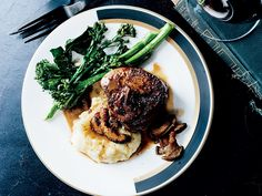 Food & Wine's Beef Tenderloin Steaks with Mushroom Sauce are the perfect dinner-party dish.