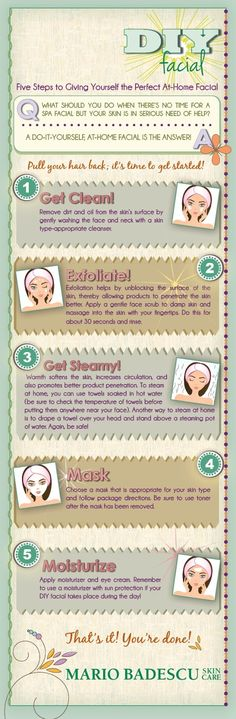 Good advice for how to get the most out of a home facial