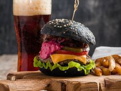 Black Squid Ink Burgers