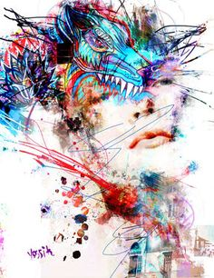 "Saatchi Art Artist yossi kotler; New Media, ""mind feeding"" #art"