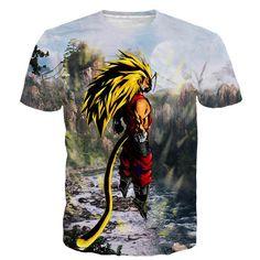 Dragon Ball Z SSJ4 Goku 3D Short Sleeve Anime T-Shirt
