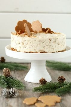Helppo ja nopea piparkakku-juustokakku, liivatteeton - Suklaapossu Christmas Feeling, Nordic Christmas, Cakes And More, Yummy Cakes, Deli, Vanilla Cake, Sweet Recipes, Cheesecake, Goodies