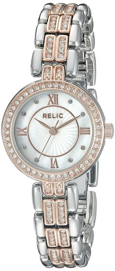 Relic Women's ZR34342 Haven Analog Display Analog Quartz Rose Gold Watch >>> Want additional info for the watch? Click on the image.