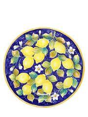 Resultado de imagen para platos pintados con imagenes limones