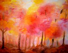 Autunno - classe sesta Wet On Wet Painting, Painting & Drawing, Watercolor Trees, Watercolor Paintings, Teen Art, 6th Grade Art, School Painting, Chalkboard Drawings, 3 Arts