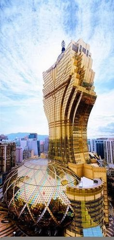 Grand Lisboa. Architecture which seeks to intimidate is simply bullying. Bullying!