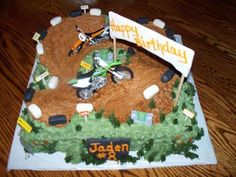 dirt bike cake ideas Bing Images Boys 6th birthday Pinterest