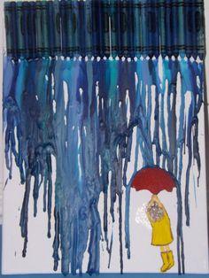 Rainy Day Crayon Melt