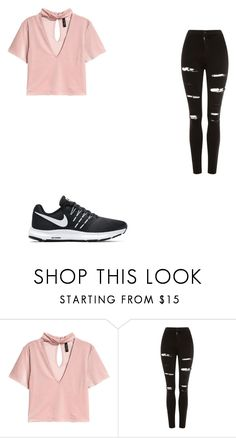 """""""Untitled #90"""" by camorajohnson on Polyvore featuring Topshop and NIKE"""