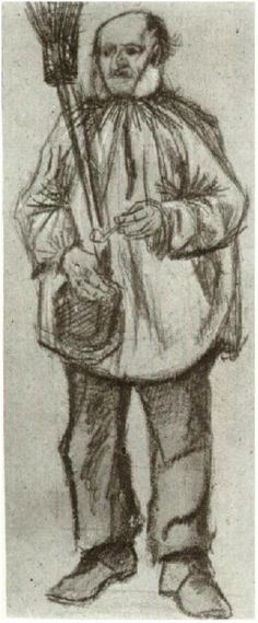 Vincent van Gogh Drawing.  Pencil and washed. The Hague: December, 1882. Location of piece still unknown and missing (stolen or looted by the Nazi's)