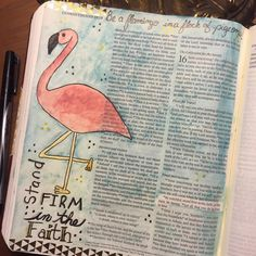1 Corinthians Bible journaling Art by Jessical Bullock Be on guard. Stand firm in the faith. Be courageous. Be strong. Esv Bible, Scripture Art, Bible Art, Bible Quotes, Bible Verses, Faith Bible, Scriptures, Corinthians Bible, Bible Study Journal