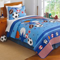 Pem America and Stars 3-piece Quilt Set
