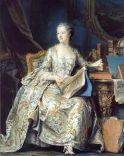 Marquise de¨Pompadour, Maurice Quentin de la Tour, 1748-1755. Musée du Louvre