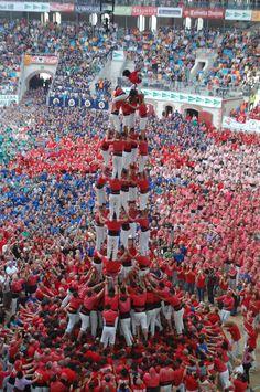 Concurs de Castells, Tarraco Arena Plaça de Tarragona, Tarragona Province, Catalonia, Spain
