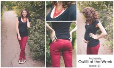 From Bump to Babe - Maternity Outfit of the week - pants from @Seraphine Maternity