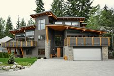 Modern house with distinctive roof line; Photo by Jeff Kuly