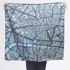 MELBOURNE Australia Silk Cotton Souvenir Scarf by McKeanStudio
