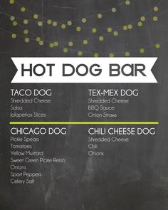 Decorating the Dorchester Way: Easy Hot Dog Bar with Printable