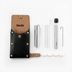Leather Kit Travel Kit for the SilverStick one hitter pipe with a filter