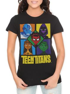 DC Comics Teen Titans Blocks Girls T-Shirt | Hot Topic on Wanelo