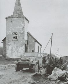 This photo of the chapel in Merlsheid was taken by a German Kriegsberichter, later to be captured by the Americans.