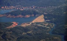 """""""This is a view of Oroville Dam and marina nearby in northern California. The lake usually has a low water line. Does it remind you of a large bathtub?""""(Courtesy sssnancysss/myBudgetTravel)"""