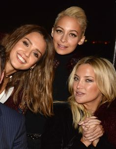 (L-R) Actresses Jessica Alba, Nicole Richie, and Kate Hudson attend Jessica Alba, Humberto Leon and InStyle celebrate Honest Beauty and the launch of the #letsbehonest campaign on November 5, 2015 in Los Angeles, California.