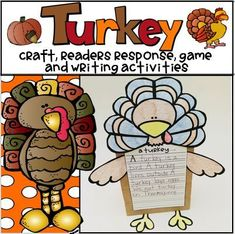 Students will enjoy making their own turkey or turkey puppet and completing the other fun Thanksgiving/Fall activities included!  Some activities included are:  two Reader's Response sheets, Turkey Roll, Count and Color(I have also included a differentiated Turkey, Color and Label the Turkey, Let's Talk Turkey K/W/L Activity and many more!  This is a perfect activity to add to any Thanksgiving/fall lesson!