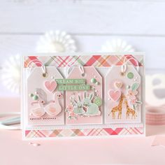 Echo Park Paper Co. (@echoparkpaper) • Instagram photos and videos Baby Girl Cards, Boy Cards, Washi Tape Cards, Welcome Baby Girls, Shabby Chic Baby, Congratulations Baby, Echo Park Paper, Handmade Baby, Handmade Cards