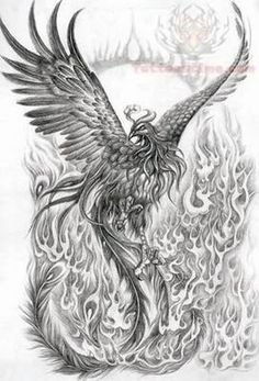 Japanese Phoenix Tattoo Sample