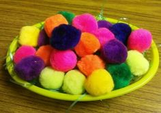 pair the eggs with colored pom poms and colored objects. -  Pinned by @PediaStaff – Please Visit http://ht.ly/63sNt for all our pediatric therapy pins