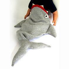 knitted shark sleeping bag by the miniature knit shop | notonthehighstreet.com