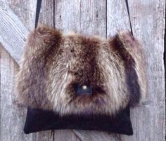 Recycled Wildcat fur and genuine leather shoulder bag., a style very trendy! Choice of black leather, tan Measurements: 11 tall 12 wide Real Leather, Black Leather, Fur Bag, Fur Accessories, Recycle Jeans, Large Shoulder Bags, Vintage Purses, Beautiful Bags, Tote Handbags