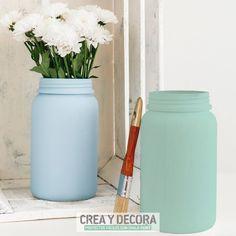 Tarros decorados con Chalk Paint. - Crea y Decora. Proyectos fáciles con Chalk Paint