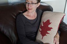 Ravelry: Oak pattern by Karen Fletcher Wool Pillows, Ravelry, Pillow Covers, Knitting Patterns, Cozy, How To Make, Gift, Design, Pillow Case Dresses
