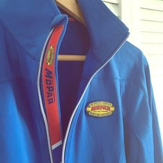 Vintage-Style Mopar Zip-Up Jacket Cool zip-up/pullover from Mopar. If you're a Jeep, Chrysler, Dodge or Ram Truck girl, this pullover is for you! Only worn a couple of times when I worked at Chrysler. Mopar Tops Sweatshirts & Hoodies
