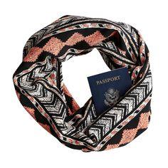 77dcebc3ce New 2018 Soft Zipper Pocket Loop Scarf Women Fashion Autumn Winter Warm  Geometric Pattern O Ring Scarves Travel Couple Infinity (C)