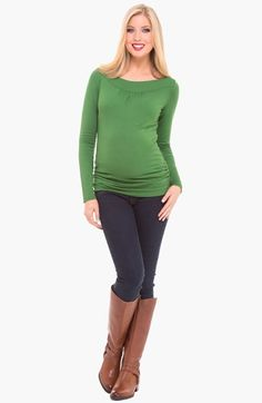 Olian Boatneck Maternity Top available at #Nordstrom
