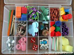 Exploration Busy Box  A Learning Activity by CindyDG on Etsy, $15.00....this would be an easy DIY