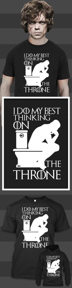 I Do My Best Thinking On The Throne - Limited edition. Order 2 or more for friends/family & save on shipping! Makes a great gift!