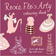 Rosie Flo's Arty Colouring Book: This time Rosie Flo's gone all arty – visiting galleries and recreating some of the world's best-loved art.  Take your place at da Vinci's Last Supper, step into Vermeer's studio or watch the ballet with Degas. Help Dali's clocks to melt and Picasso's harlequin to dance.  Children and adults alike love to identify the artists inspiring the outfits and scenes on each page. Rosie Flo's Arty provides an unusual and interactive introduction to the world of Art…