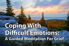 Guided Meditation for Coping With Difficult Emotions  Even when you feel like you are being pulled down into a whirlpool of suffering that seems inescapable, the practice of mindfulness can help you reduce your suffering. Here is a guided meditation for coping with grief's difficult emotions using the techniques I outline above. May it bring you peace. Free Guided Meditation, Meditation Steps, Meditation For Anxiety, Mindfulness Meditation, Reiki Music, Mindful Living, Reflexology, Stress And Anxiety, How Are You Feeling