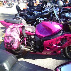 Love this! I saw this girls bike at Laconia bike week 2012